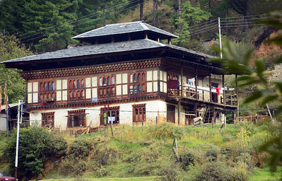 The architecture of ordinary houses varies according to location and elevation. In western Bhutan, two-storied buildings are common. Upper floors are often reserved for chapels, which double as guest quarters. Attics, insulated with bamboo mats and hay, often serve for drying animal skins and chilies.
