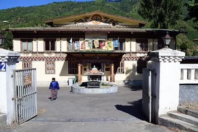 National building codes require that Thimphu's shops and homes hew to traditional architectural styles.