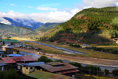 Bhutan is about the size of Indiana, but in the entire country there is possibly only one area wide enough for an international airport - the Paro valley, some 34 miles from the country's capital of Thimphu.