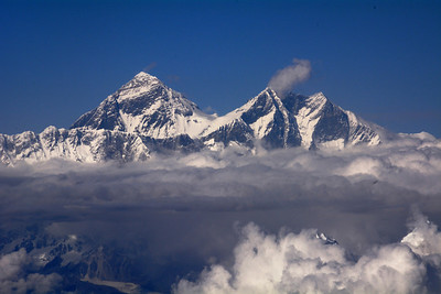 Our first sighting of the great Himalayas came as we flew from Delhi, India, to Bhutan.