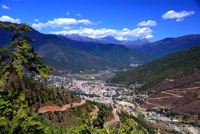 Sandwiched in a Himalayan valley is the capital city of Thimphu. There have been small settlements and a Buddhist fortress in this valley for nearly 800 years but Thimphu didn't really develop until Bhutan's third king declared it to be the country's new capital in 1961.