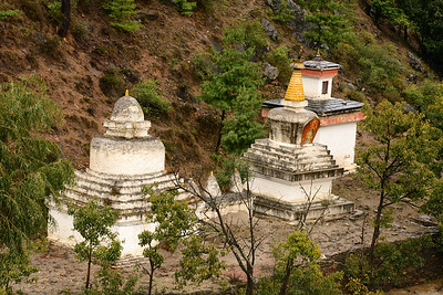 Each chorten is in a different style – Bhutanese, Tibetan and Nepali.