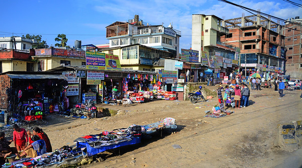 On the drive into the city we passed one of Kathmandu's many shantytown-like open air markets...
