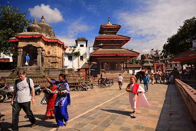 Here, in the medieval walkways of the city's historic center, Kathmandu's faded charisma emerges from the urban chaos.