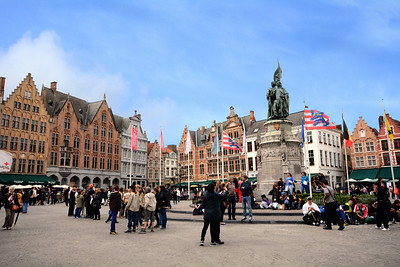 ...the center of Bruges' life and trade just as it was in the town's medieval heyday.