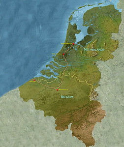In other words, we're heading from the Netherlands back to Belgium.