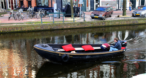 ...although locals still use the canals for daily errands.