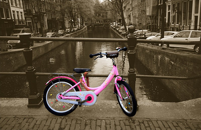 The bicycles of most Amsterdammers look a little time-worn, but occasionally you will come across one that stands out.