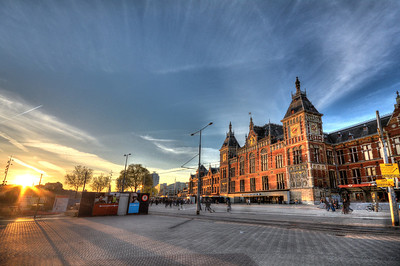 Nearly every arriving visitor to Amsterdam will pass through the Amsterdam Central Station, the hub of the country's network of trains, trams and riverboats.