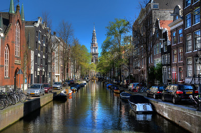 Amsterdam is a city of canals.  The first canals were built in the Middle Ages, primarily for defense and flood control to defend the city and lessen flooding.