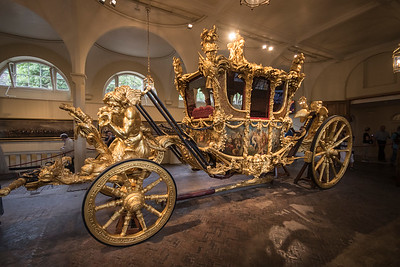 "In the ""garage"" of Buckingham Palace is the Gold State Coach, the 4-ton coach that has been used at the coronation of every British monarch since George IV in 1820."