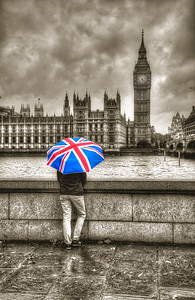 The appropriate umbrella for rainy Londontown.