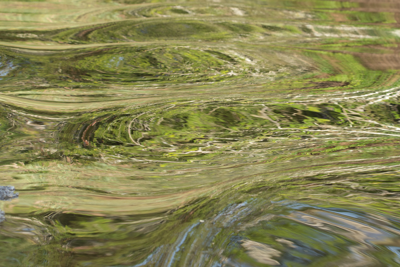 Abstract Reflection in the River