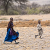 Masai kids along the road, en route to Olduvai Gorge, en route to Serengeti National Park, Tanzania