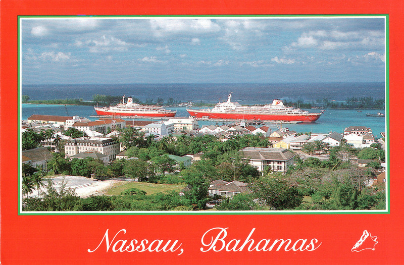 Postcard of Nassau - Carnival Cruise Bahamas - NSP Convention  9-30 to 10-4, 1991