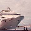 Ship Docks in Freeport - Carnival Cruise Bahamas - NSP Convention  9-30 to 10-4, 1991<br /> Howard Murphy is Waving