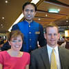 Kelley and Nathan Howlett with Our Waiter, Bobby - St. Petersburg, Russia