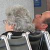 6-19-05 Departure Day - Richmond Airport - She's Reading to Him Out Loud