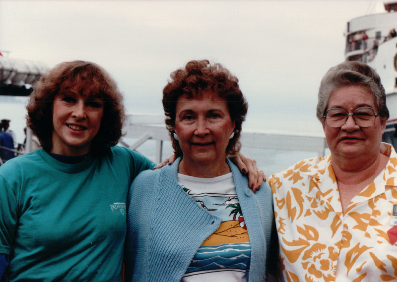 Donna, Niana McGahey & Ruth Farley - Enroute to Victoria, BC