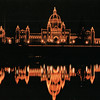 Parliament Bldg at Night - By the Harbor - Victoria, BC, Canada