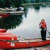 "Our Canoe - Donna's First Time to Canoe - Kejimkujik National Park - Nova Scotia, Canada  9-1-97<br /> Kejimkujik is known as Nova Scotia's ""canoeing paradise.""  It's the ancestral home of the Mi'kmaq Indians and you actually canoe on their highways."