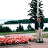 Randal at Alexander Graham Bell Historic Site - Baddeck, Cape Breton, Nova Scotia, Canada  8-29-97