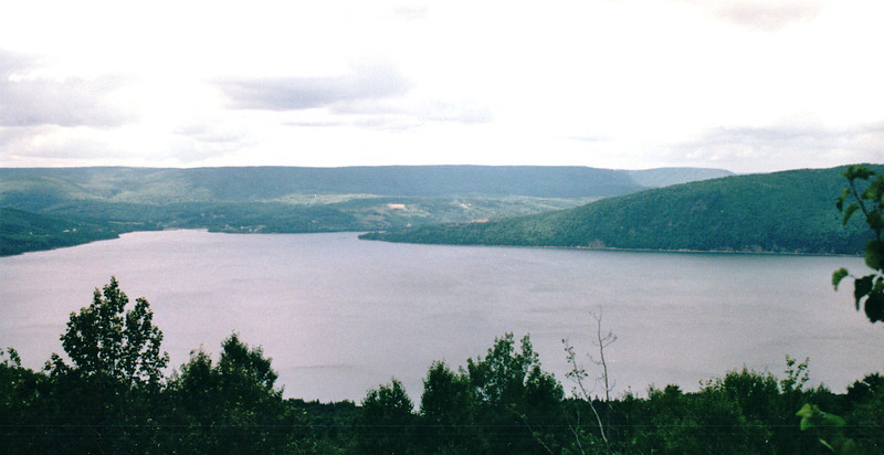 Leaving Bras d'Or Lakes Scenic Drive and Entering Cabot Trail - Cape Breton, Nova Scotia, Canada  8-29-97