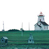Lighthouse at Wood Islands Ferry Terminal - PEI, Canada  8-28-97