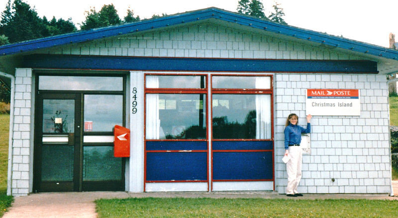 Christmas Island (Pop. 45) Post Office - Nova Scotia, Canada  8-29-97<br /> Along the shoreline of St. Andrew's Channel.