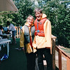 Donna and Randal After Tidal Bore Park - Rafting at the Shubenacadie River- Nova Scotia, Canada  8-31-97<br /> A rafting trip on a Zodiac, the only craft that meets and rides the Tidal Bore and the 3-10 foot roller-coaster rapids of the Shubenacadie River.  You experience a small stream changing its course with the coming of the Tidal Bore to an awesome giant river in a matter of minutes.  Quite AMAZING!