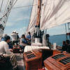"This Tall Ship Sails in Passamaquoddy Bay - S/V ""Cory"" - St. Andrews by the Sea, New Brunswick, Canada  8-25-97<br /> Beautiful woodwork.  The ship is 72' gaff rigged square rigged cutter, a replica of the famous early 1900's ""Jolie Brise."""