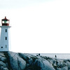 Peggy's Cove Lighthouse - Peggy's Cove, Nova Scotia, Canada  8-31-97<br /> it stands on a massive granite ledge and serves as the post office during the summer months.