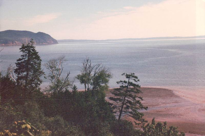 Bay of Fundy View - Fundy National Park, New Brunswick, Canada  8-26-97