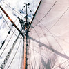"Looking Up From the Benches on Deck - What a View - S/V ""Cory"" - St. Andrews by the Sea, New Brunswick, Canada  8-25-97<br /> You can hear the word ""PEACEFUL"" in the breeze!"