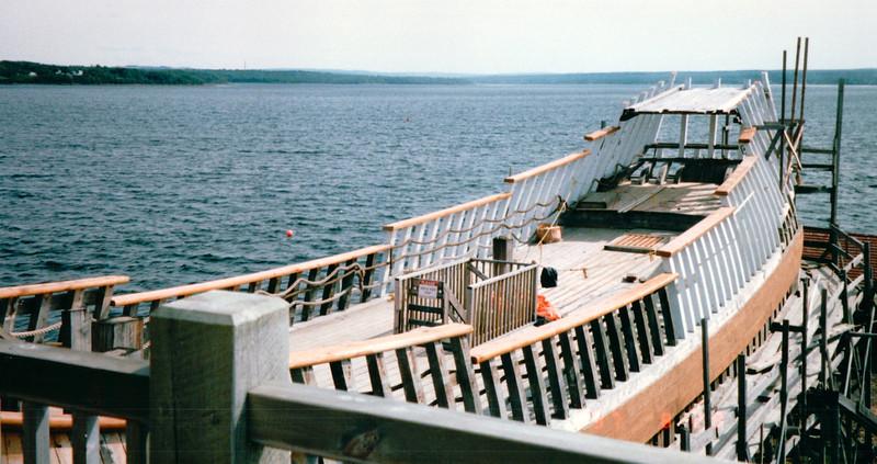 Hector Heritage Quay - Pictou, Nova Scotia, Canada  8-28-97<br /> Closer view of building progress.