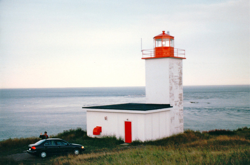 """Lighthouse on West Quaco Road - Picnic Location - St. Martins, New Brunswick, Canada  8-25-97<br /> Afterwards, back in the room, Randal asked Donna if she would choose to marry him again.  After she answered, """"Yes!"""" he gave her a white gold wedding band to go with a diamond ring that was her grandmothers."""