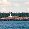 "Passing An Island With Lighthouse - S/V ""Cory"" - St. Andrews by the Sea, New Brunswick, Canada  8-25-97"