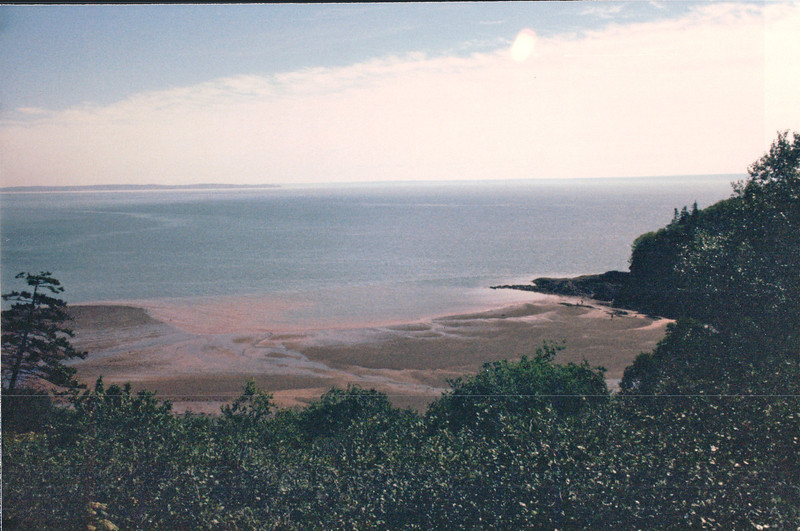 Fundy National Park, New Brunswick, Canada  8-26-97<br /> Fundy's onslaught of water every 12 hours and 30 minutes is estimated to nearly equal the 24-hour flow of all the rivers in the world.