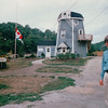 "Randal at Windmill Welcome Center - Bear River, Nova Scotia, Canada  9-2-97<br /> This is an authentic Dutch windmill, ""De Zaaier"" / The Sower."