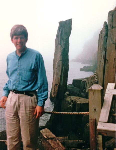 Randal Wanted to See Balancing Rock - Digby Neck, Nova Scotia, Canada  9-2-97