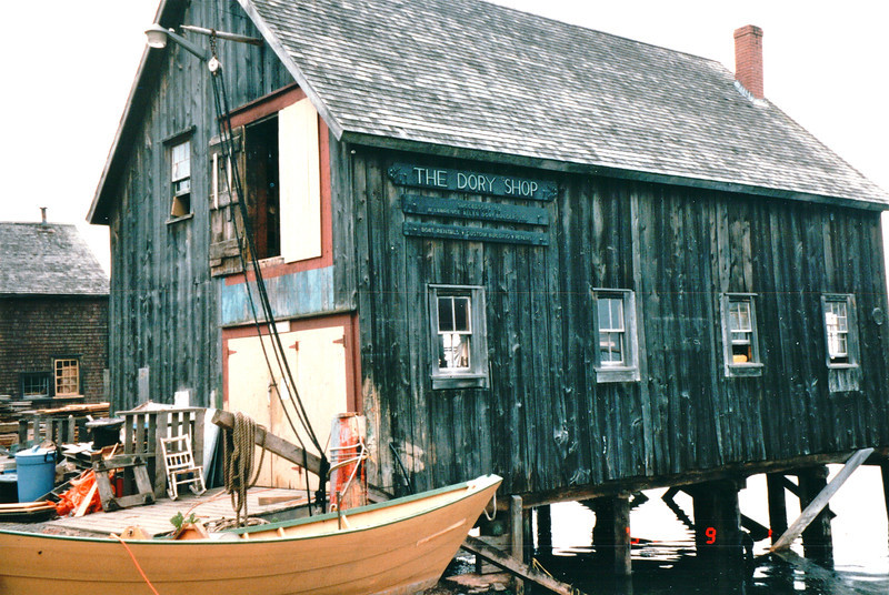 The Dory Shop - Lunenberg, Nova Scotia, Canada  9-1-97<br /> This place on the waterfront still builds traditional two-man dories the way they did when the shop first opened in 1895.
