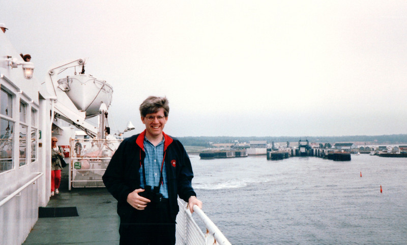 Wind-blown Randal - Ferry on The Northumberland Strait - Headed for Caribou, Nova Scotia, Canada  8-28-97