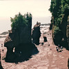 The Hopewell Rocks at Hopewell Cape, New Brunswick, Canada  8-26-97<br /> Like 4-story high flowerpots, the beautiful Hopewell Rocks emerge from the sea and invite visitors to explore them from the unique perspective of the now-revealed ocean floor.