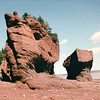 The Hopewell Rocks at Hopewell Cape, New Brunswick, Canada  8-26-97<br /> In some places, the vertical difference between high and low tide is 14 metres - roughly the same height as a 4-story building.