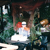 "Dinner at ""The Market""  - Mahone Bay, Nova Scotia, Canada  8-31-97<br /> Italian foccocia bread, pasta salad, and juice."