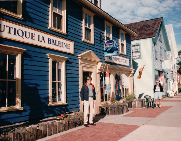 Randal at Boutiqu La Baleine - St. Andrews by the Sea, New Brunswick, Canada  8-25-97<br /> Shop where we bought Christmas ornaments.