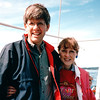 "Randal and Donna - S/V ""Cory"" - St. Andrews by the Sea, New Brunswick, Canada  8-25-97<br /> We are thinking, ""Why did it take so long to sail on one of these ships?"""
