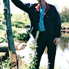 Randal at Beaver Eaten Tree - Wildlife and Marsh Area Near Thunder Bay - Ontario, Canada  6-3-99