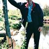 Randal at Beaver Eaten Tree - Wildlife and Marsh Area Near Thunder Bay - Ontario, Canada  6-3-99