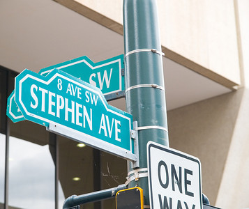 Stephen Street near Calgary Marriott